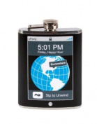 """Wild Eye Trendy """"5:01 PM Friday, Happy Hour...Sip to Unwind"""" Blue Pixel Party Flask 210ml"""