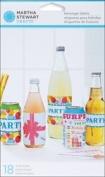 Martha Stewart Crafts Modern Festive Assorted Beverage Labels