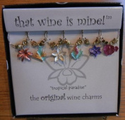 Set of Six Tropical Paradise Wine Glass Charms from That Wine is Mine - 1501P