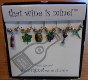 Vino Colore Painted Wine Glass Charms or Wine Markers - 1423P