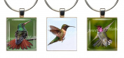 HUMMINGBIRDS ~ Scrabble Tile Wine Glass Charms ~ Set #8 ~ PAIR & A SPARE ~ Set of 3 ~ Stemware Charms/Markers/Pendants