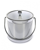 Mr. Ice Bucket 561-1 Brushed Silver Ice Bucket, 2.8l