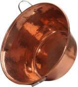 Sertodo Permian Basin, Jam Pan, Carnitas Cazo/Pot, 50.8cm diameter by 22.9cm deep, Hammered Copper