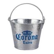 Corona Extra Galvanised Beer Bucket W/Built-In Bottle Opener