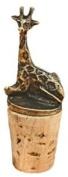 Handmade Brass Giraffe Wine Stopper - Fair Trade