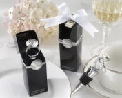 With This Ring Chrome Diamond-Ring Bottle Stopper