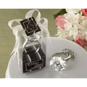 """""""With This Ring"""" Chrome Diamond-Ring Bottle Stopper"""
