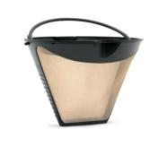 Fresco Goldtone Cone Shaped Coffee filter