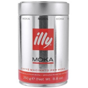 Illy MOKA stovetop, medium grind, ground coffee, 260ml can.