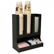 Condiment Organiser for Lids, Coffee Cups & More. 3 Moveable Dividers Great for Office Break Rooms. Proudly Made in the USA ! made by PPM