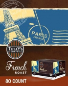 Tully's Coffee * FRENCH ROAST * 80 K-Cups for Keurig Brewers
