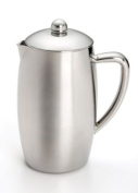 BonJour French Press Triomphe 8-Cup Double Wall Insulated Stainless Steel with Flavour Lock Brewing