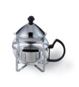 Service Ideas Chrome Finish Classic Tea Press 4 Cup