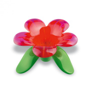 Koziol,Audrey 3231592 Red Transparent Tea Strainer Designed Like A Flower, 5,31X13.5cm X 9.2cm