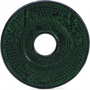 HUES N BREWS Emerald Green Cast Iron Trivet