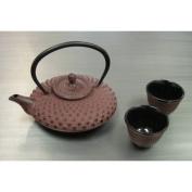 Japanese Cast Iron Tea Pot Tea Set - Mochi Dark Red