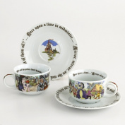 Snow White 240ml Round Cup and Saucer Set/2 By Paul Cardew Design