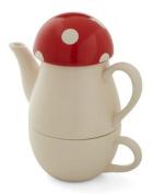 """Mushroom """"Tea For One"""" Tea set"""