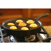 Camp Chef True Seasoned Aebleskiver Cast Iron Pan