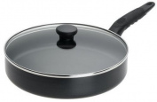 Mirro A7979774 Get A Grip Aluminium Nonstick 25.4cm Fry Pan / Saute Pan with Glass Lid Cover Cookware, Black