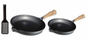 Berndes Tradition Fry pan Set, Includes 24.1cm Skillet, 27.9cm Skillet and Spatula