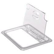 Cambro Clear Camwear 1/6 Size Notched Food Pan FlipLid