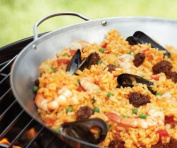 Outset QS68 Stainless Steel Paella Pan