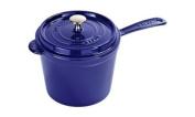 Staub 2.8l Saucepan with Long Handle & Lid Dark Blue Cast Iron 1281891