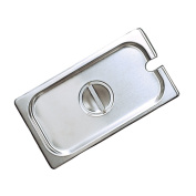 Adcraft Third Size Stainless Steel Steam Table Slotted Pan Cover