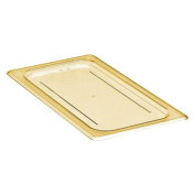 Cambro Amber 1/3 Size Flat H-Pan Cover w/o Handle