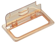 Cambro Amber 1/3 Size Notched H-Pan FlipLid