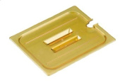 Cambro Amber Full Size Notched H-Pan Cover w/ Handle