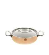 De Buyer 6241.24 Prima Matera Sauté Pan with Magnetic Bottom and Stainless Steel Lid, 24 cm Diameter