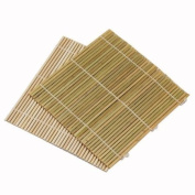 Set of 6 Bamboo Sushi Rolling Mats 24.1cm Square