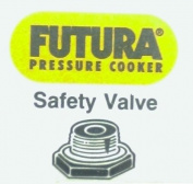 Hawkins FSV Safety Valve for Futura Anodized Pressure Cooker, Small, Black