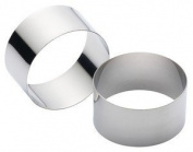 Kitchen Craft Stainless Steel Cooking Rings 7cm- set of two