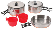 Stansport 362 2-Person Cook Set, Stainless Steel