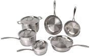 Professional Copper Clad 10-Piece Earthchef Cookware Set