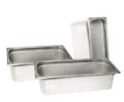 Standard Stainless Steel Full-Size Steam Table Pan - 10.2cm Deep