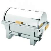 Excellanté Stainless Steel 7.6l Roll Top / Golden Handle Chafer