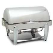 18-10 Stainless Steel Aspen Rectangular Roll Top Chafer