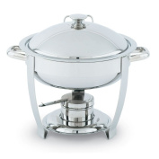 Orion Small Round Mirror Finish S/S Lift-Off Chafer, 3.8l