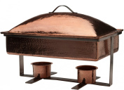 Sertodo Syracuse Chafer, 7.6l Rectangular Domed Chafer, Hammered Copper