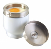 Kitchen Craft Porcelain Egg Coddler with Stainless Steel Top