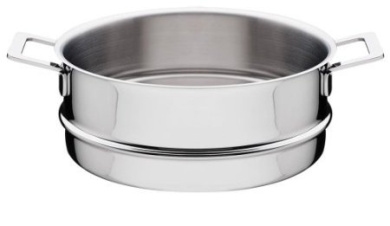 "A Di Alessi,AJM779.8cm POTS & PANS"", Steamer basket in 18/10 stainless steel mirror polished,24.1cm"