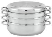 Beka Cookware Oval Stainless Steel Roaster/Steamer Set with Lid, 38.1cm