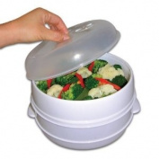 BSS - 2 Tier Microwave Steamer Food Cooker - As Seen on TV