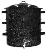 Granite Ware 6328-1 11.4l Enamel-on-Steel 3-Tier Shore Dinner Pot with Faucet