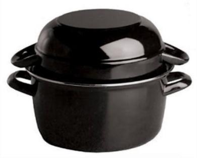 Paderno World Cuisine 2kg Capacity Enamel Steel Mussel Pot
