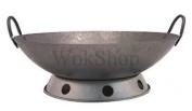 40.6cm Carbon Steel Hand Hammered Wok